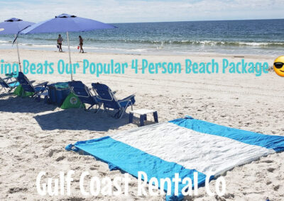 4 person beach package on the beach