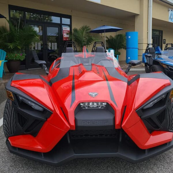 red slingshot car