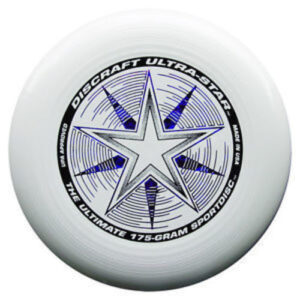 white frisbee product shot