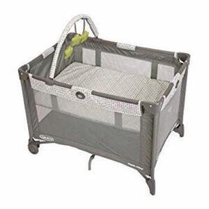 grey baby crib