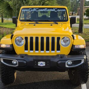 yellow jeep wrangler
