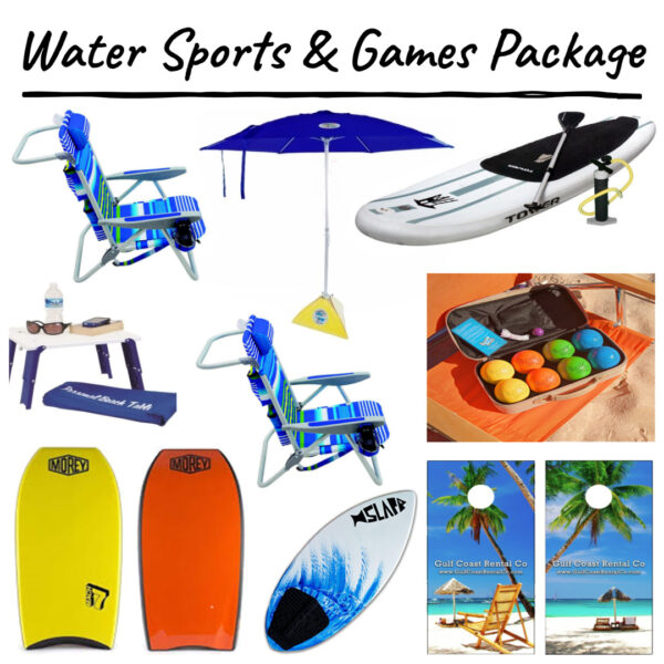 water sports and games package
