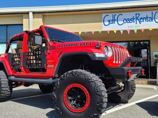 Red Jeep Rubicon